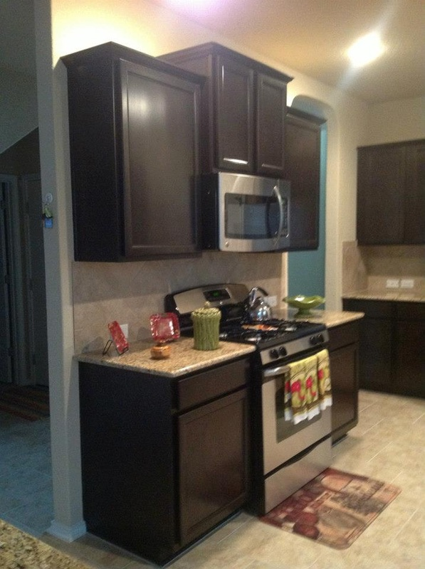 Dark Cabinet with Crown Molding