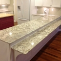 Granite counters above custom cabinetry