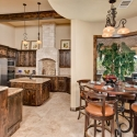 Stained Wood Cabinetry