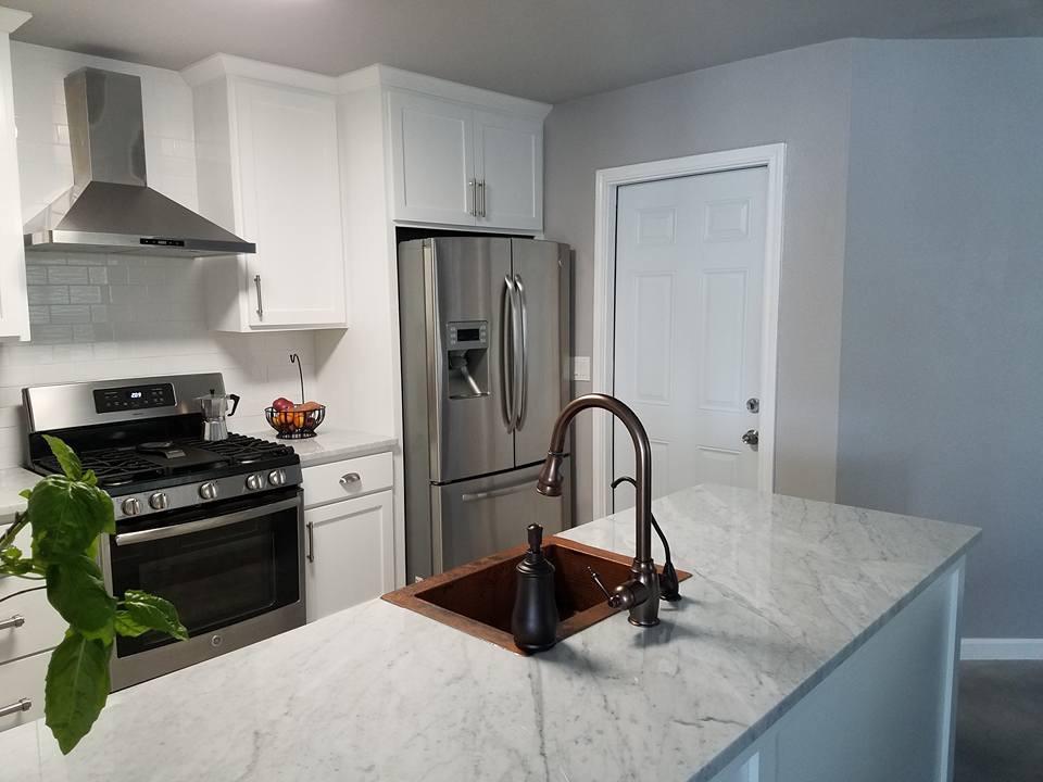 Kitchen, Bathroom, Living