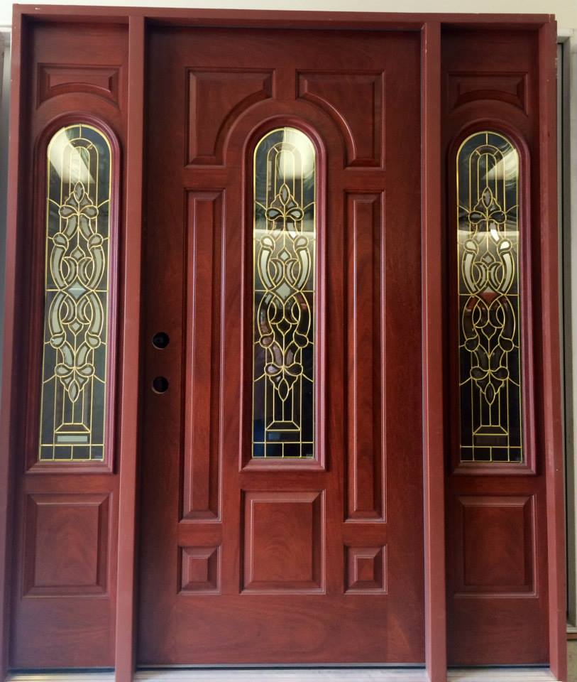 Triple front door fiberglassready for installincludes threshold and weather protection size 67 1/2\